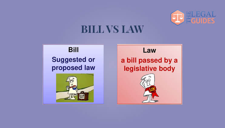 Difference Between Law & Bill